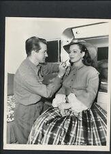ELLEN DREW WITH MAKEUP MAN BOB SCHIFFER CANDID - 1948 N MINT DBLWT BY VAN PELT