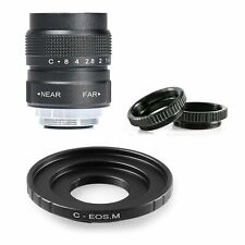 Fujian 25MM f/1.4 CCTV Movie Lens for Canon EOSM EF-M Mirrorless Cameras M2 M3