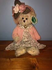Bearington Collection Plush Bear Pink Dress Pink Sweater Stuffed Animal Toy 1069
