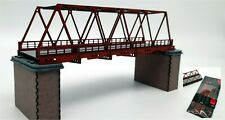 Modelux N Gauge Box Girder Bridge in Red Oxide - KIT