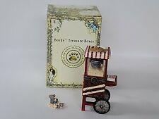 Boyds Bear Treasure Box Kernal's Popcorn Cart With Pop McNibble