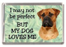 "Bullmastiff Dog Fridge Magnet  ""I may not be perfect BUT....."" by Starprint"