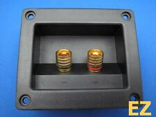 2x Speaker TERMINAL Plate With 4x Gold Binding Post Banana Plug Connector G124B