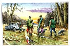 Shooting Scene End of Day  Blank Greetings Card from a Original  Watercolour