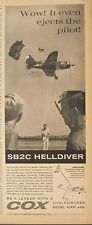 1963 Cox Gas Powered SB2C Helldiver Model Airplane Parachute Toy Memorabilia AD