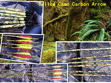 """50)30"""" Yellow CAMO pure carbon professional hunting arrow 340 spine by EMS fast"""
