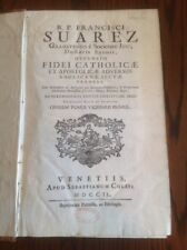 R. P. FRANCISCI EXTREMELY RARE LATIN 1749 DEFENSIO FIDEI CATHOLIC ET APOSTOLIC