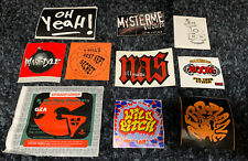 VTG Stickers LOT OF 10 90's~ HIP-HOP ~PROMO~ #5 NAS, WILD PITCH, GZA & More!