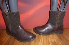 *A4* NEXT Brown  leather suede faux fur lined ankle wedge  boots  EU 38 UK 5