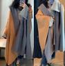 Zara Camel Oversized Poncho Cape Hood Size Medium