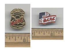 Sterling Heights Police - Michigan - Mini Badge/D.A.R.E. Flag Pin Set (Last Set)