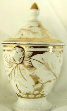 Ancien Sucrier / Pot couvert en porcelaine de Paris --: Hauteur 18 cm