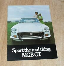 MG MGB GT Brochure 1971 Chrome Bumper Model