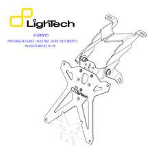 PORTATARGA REGOLABILE [LIGHTECH] MV AGUSTA BRUTALE 750/910 (2000-2010) KTARMV101