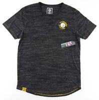 NFL Team Apparel Mens Large Pittsburg Steelers Short Sleeve Henley T-Shirt