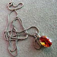 """Sterling Silver Imperial Topaz Pendant Necklace 18"""""""