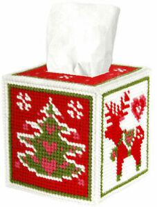 Christmas Motifs Tissue Box Cover Tapestry Kit