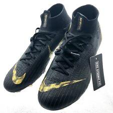 Nike Mercurial Superfly 6 Elite FG  Black Gold Cleats AH7365-077 Men's Size 7.5