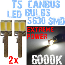 2 LED T5-lampen 5630 White 6000k BOARD HORLOGE CANBUS Moto 12V 1A11.2 1A11.2-A X
