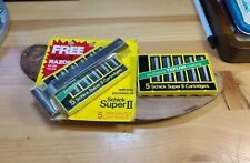 Schick Super II Twin Blade safety Razor System 5 Blade Cartridges NOS Vintage