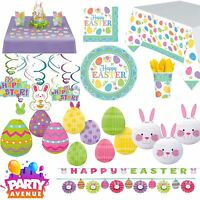 Easter Tableware & Decorations Bunny Egg Party Banners Cups Plates