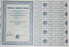 Action - Compagnie Financière MOCUPIA, action de 100 Frs N° 008232