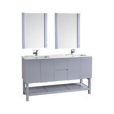 "Biscayne 60"" Double Bathroom Vanity without Mirror"