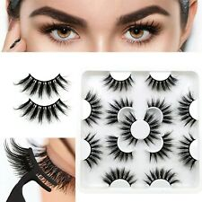Falsche Wimpern Fiber 7Pairs 3D Wispy Cross Long Thick Soft Fake Eye Lashes#A11.