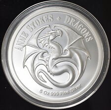 Anne Stokes Dragons Series Noble Dragon 5 oz 999 Silver Coin Proof Dragon 500