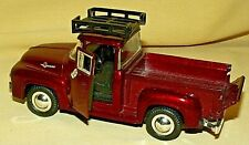 FORD F100 PICKUP TRUCK 1956 SUPERIOR SUNNYSIDE METALLIC BURGUNDY RESTORATION.