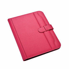 A4 Pink Conference Folder Portfolio Soft Padded Cover With Calculatoramppad Cl 663