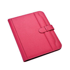 A4 Pink Conference Folder Portfolio Soft Padded Cover With Calculator&Pad CL-663
