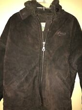 Guess Jeans leather bomber jacket retro vintage mens small rare great condition
