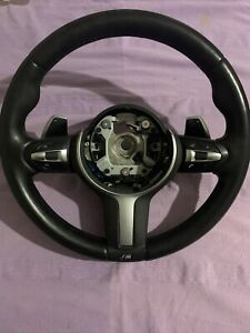 BMW 1-2-3-4 M SPORT STEERING WHEEL PADDLE SHIFT LEATHER Controller VIBRO HEATED