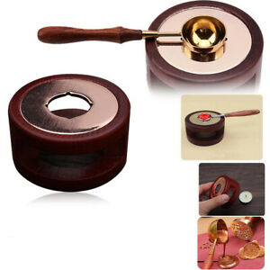 Vintage Wax Seal Stamp Warmer Furnace Stove Pot Melting Spoon Kits Stamp Tool US