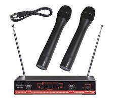 Staraudio 2 Channel Vhf Handheld Wireless Microphone System 2Ch Stage Church Mic