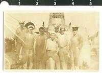c. 1910's American Sailors on Ship RPPC GAY AFFECTIONATE