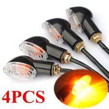 4x 10mm Mini Turn Signal Clignotant Éclairage Ampoule Ambre Ovale Oeil Chat Moto