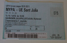 Ticket for collectors EL MYPA Myllykosken Pallo - UE Sant Julia Finland Andorra