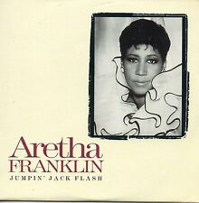 """CD Single Aretha FRANKLIN - The ROLLING STONES Jumpin"""" jack flash 2-track CARD S"""
