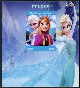 Mali Disney Stamps 2018 MNH Frozen Elsa Cartoons Animation 1v IMPF M/S