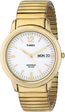 Timex T21942 Men's Indiglo Chambers Street Gold Tone Expansion Band Watch