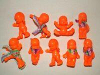 Lot de 9 figurines magic babies IDEAL el Greco orange fluo voir description.