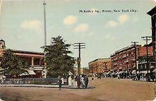 c.1910 Stores McKinley Square Bronx NY post card