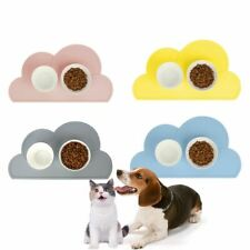 Waterproof Non-slip Feeding Place Mat For Pets Cloud Shape Mat Food Bowls Supply
