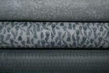 lot de 3 coupons de tissu patchwork tons gris 24x55cm