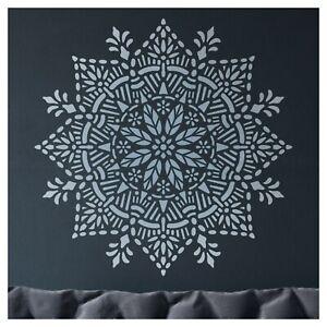 Joy Mandala Wall Stencil - Large Reusable DIY Medallion Motif Template