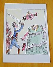 ROALD DAHL PHIZZ-WHIZZING POSTCARD ~ 'OFF WITH HER HEAD THE PRINCE ROARED...'