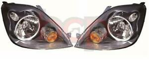 FORD FIESTA MK6 2005 - 2008 HEADLIGHTS HEADLAMPS PAIR DRIVER AND PASSENGER SIDE