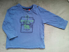 T-Shirt blau Gr. 86 f. ca. 18 Monate langarm von Esprit